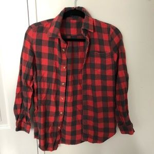 Brandy Melville red and black flannel
